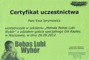 Certyfikat BLW